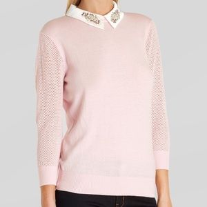 Ted Baker Pink Jewelled Sweater Size 4